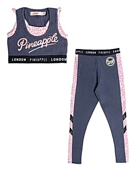 Pineapple Girls Crop Top and Legging