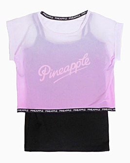Pineapple Girls Ombre Double Layer Top