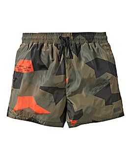 Rascal Boys Camo Pop Swim Shorts