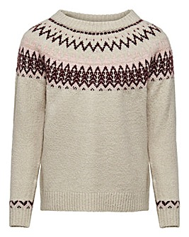 Only Girls Jacquard Knitted Jumper