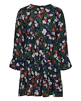 Only Girls Long Sleeve Floral Dress