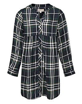 Only Girls L/S Check Shirt Dress
