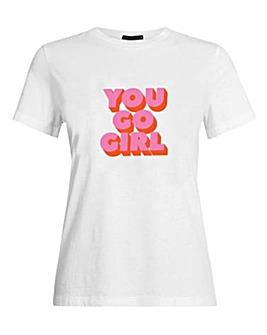Only Girls Konanetta Slogan T-Shirt