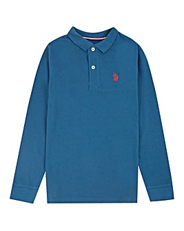 U.S. Polo Assn. Boys Blue L/S Polo