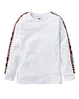 Hype Boys Long Sleeve Tape T-Shirt