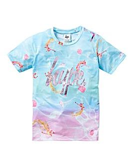 Hype Girls Mermaid Print T-Shirt