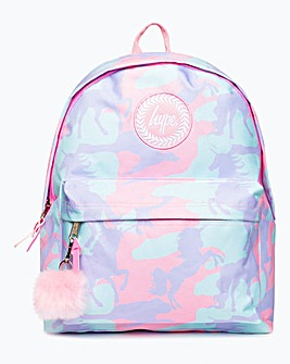Hype Unicorn Camo Print Backpack