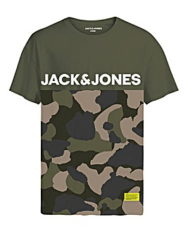 Jack & Jones Boys Camo Print T-Shirt