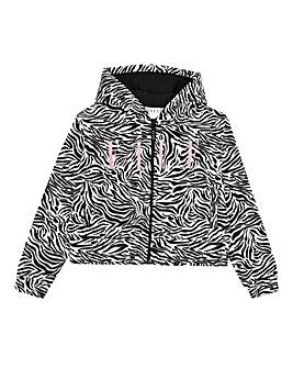 Elle Girls Zebra Print Hoodie