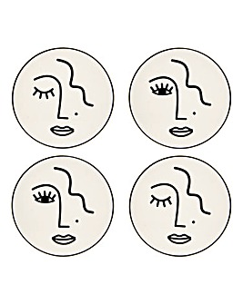 Abstract Face Coasters