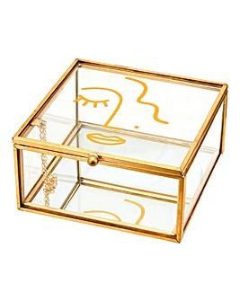 Abstract Face Jewellery Box