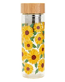 Sunflowers Water Bottle with Infuser