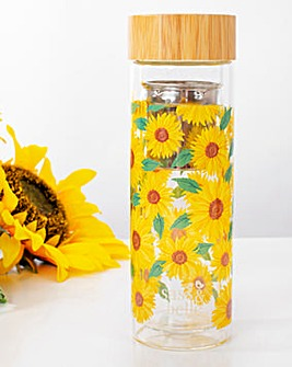 Sass & Belle Sunflowers Water Bottle with Infuser
