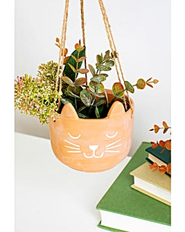 Sass & Belle Cat Hanging Planter