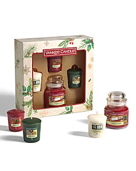 Yankee Candle 1 Jar and 3 Votive Set