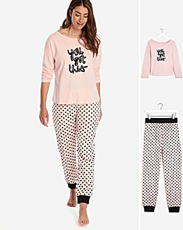 Pretty Secrets Cuffed Pyjama Set