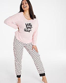 Pretty Secrets Cuffed Pyjama Set