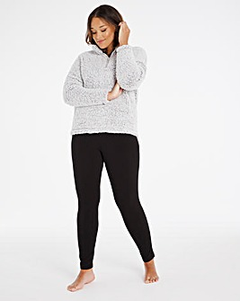 Pretty Secrets Borg Half Zip Legging Set