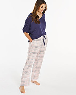 Pretty Secrets 3/4 Sleeve Check Pj Set