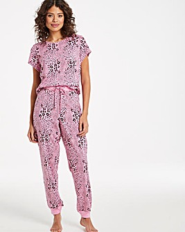 Pretty Secrets Jersey Value Cuffed PJ Set