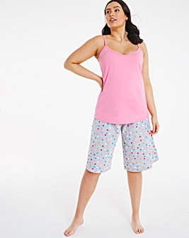 Pretty Secrets Jersey Value Crop PJ Set