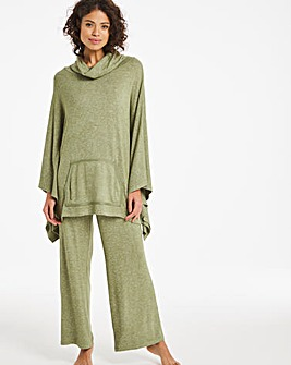 Pretty Lounge Poncho and Wide Leg Trouser Set