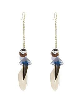 Mood Feather Drop Earring