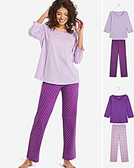 Pretty Secrets Long Sleeve Pk 2 Pyjamas