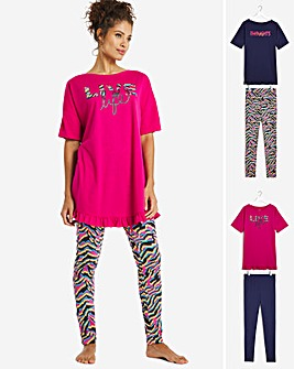 Pretty Secrets 2 Pack Frill Hem Legging Sets