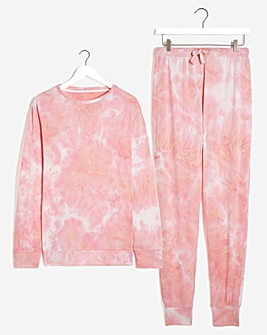 Pretty Lounge Tie Dye Print Lounge Set