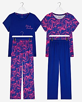 Pretty Secrets Value 2 Pack Pyjama Sets