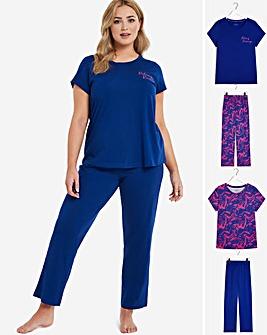 Pretty Secrets Value 2 Pack Pyjama Sets