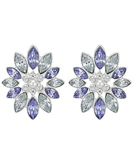 Mood Crystal Flower Stud Earring