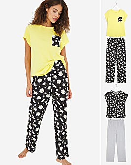 Pretty Secrets Value 2 Pk Short Sleeve Pyjama Sets