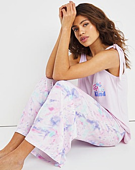 Pretty Secrets Modal Wide Leg Slogan Pyjama Set