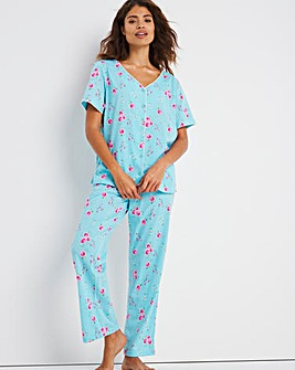 Pretty Secrets Short Sleeve 28 Inside Leg Pyjama Set