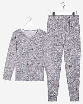 Pretty Secrets Long Sleeve Cuffed PJ Set