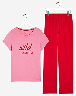 Pretty Secrets Value Straight Leg Pyjama Set