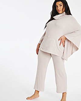 Pretty Secrets Knitted Poncho and Wide Leg Lounge Set
