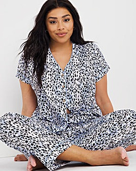 Pretty Secrets Collarless Top and Buttom Detail Pyjama Bottom