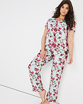 Pretty Secrets Woven Collarless Pyjama