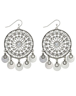Mood Crystal Disc Drop Earring
