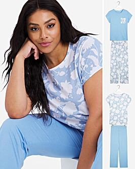Pretty Secrets Value 2 Pack Short Sleeve Pyjama Sets
