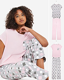 Pretty Secrets Value 2 Pack Short Sleeve Pyjama Sets