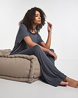Pretty Secrets Viscose Blouson Wide Leg Set
