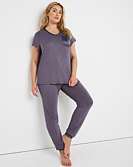 Pretty Secrets Viscose Cuffed Pyjama Set
