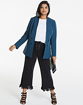Edge To Edge Teal Green Fashion Blazer