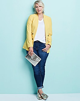 Edge To Edge Mustard Fashion Blazer