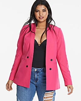 Edge To Edge Hot Pink Fashion Blazer