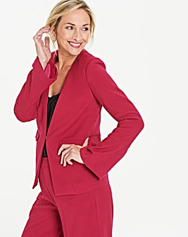 Pink Fluted Sleeve Edge to Edge Blazer